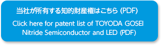 当社が所有する知的財産権はこちら(PDF) / Click here for patent list of TOYODA GOSEI<br /> Nitride Semiconductor and LED (PDF)